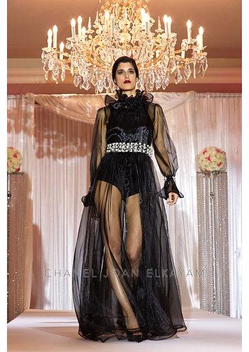 Swarovski Hand Embellished Transparent Dress
