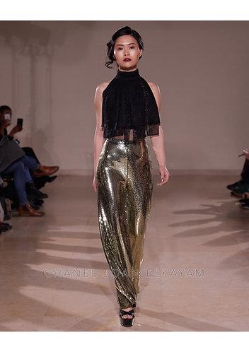 Gold Sequin Embellished Trouser