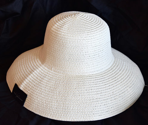 Handmade Curved Natural Straw Hat