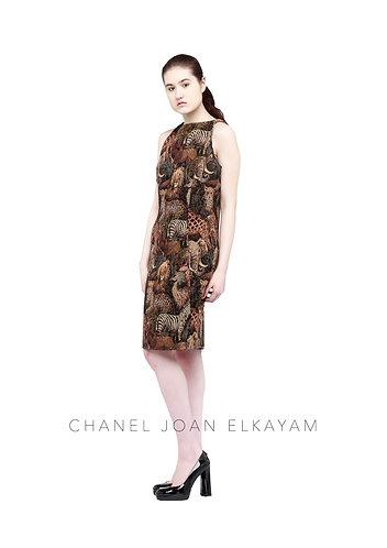 Animal Weaved Dress