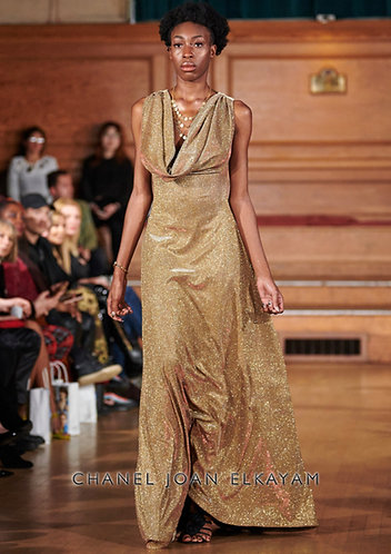 Draped Gold Gown