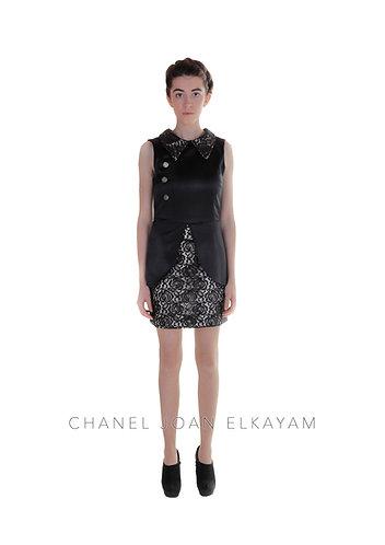 Fitted Sleeveless Peplum Dress
