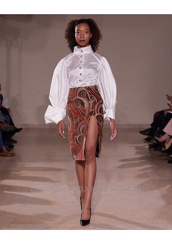 High Slit Straight Skirt
