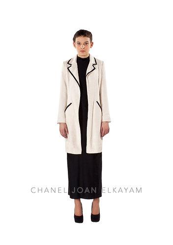 Asymmetric Notched Collar Coat