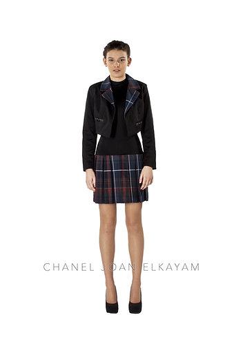 Asymmetrical Notched Collar Jacket