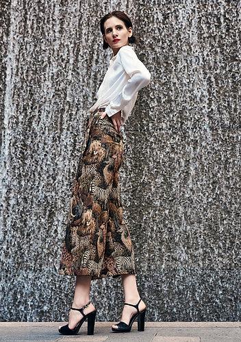 Midi Animal Weaved Trouser