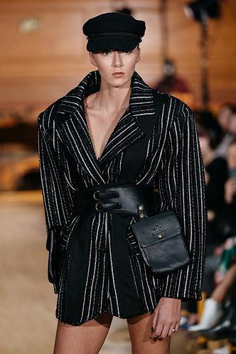 Leather Buckled Belt Bag