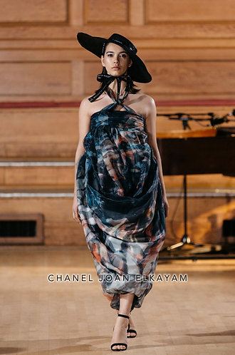 Limited Edition Printed Draped Dress/Skirt