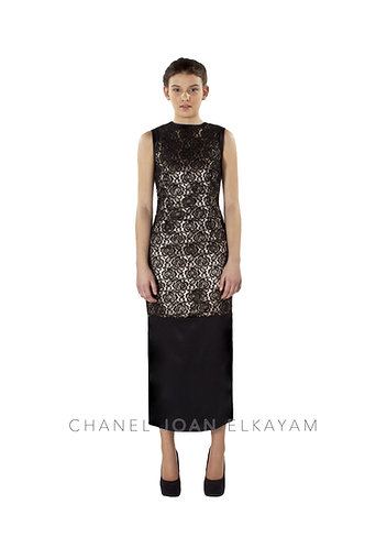 Round Neck Fitted Maxi Dress