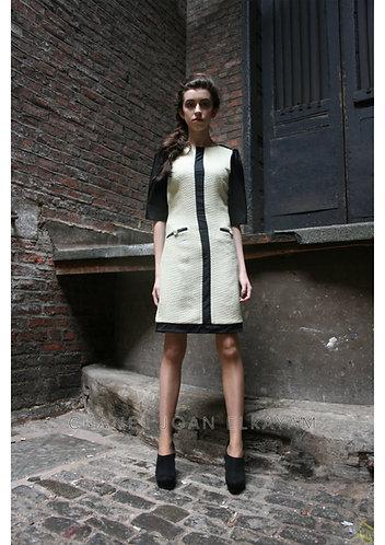 3/4 Sleeve Panel Dress