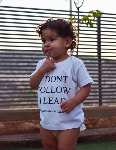 I Dont Follow I Lead Childrens T-Shirt