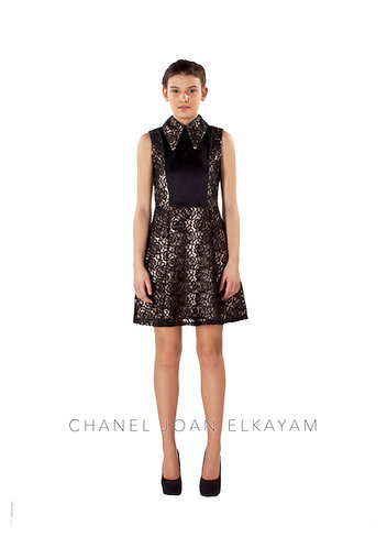 Traditional Collar Sleeveless Dress