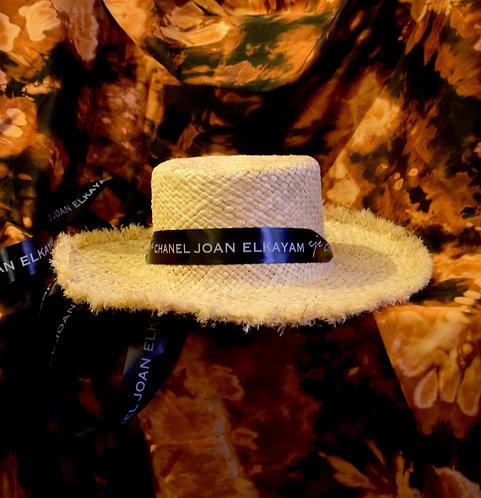Handmade Straw Wide Raw Edge Hat