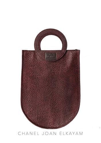 Leather Curved Shopper Bag