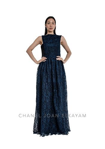 Guipure Floor Length Dress