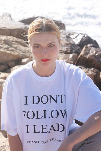 I Dont Follow I Lead Womens T-Shirt