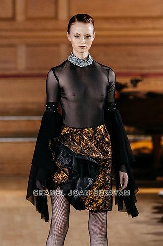 Swarovski Hand Embellished Opaque Bodysuit