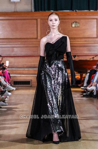 Sequin Embellished Godet Trouser