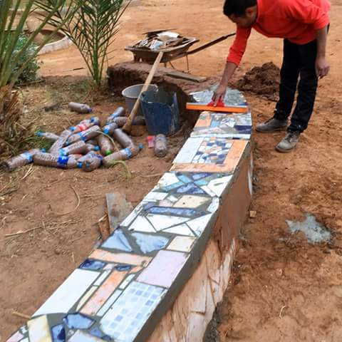 tiling the bounou wall