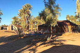Traditional Berber Tents under the palm trees
