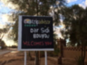 Our Big Trip Advisor Welcome Sign