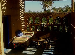 The terrace outside room Wahed