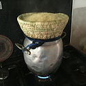 Cooking couscous with a traditional basket