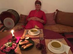 Karima enjoying supper