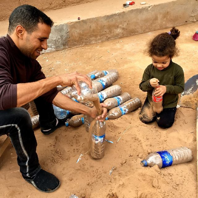 boudi and rahma filling bottles