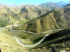 The road to the High Atlas pass of Tizi n´Tichka