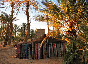 Sunrise on one of the Berber Tents