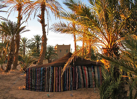 Small Berber tents in the garden