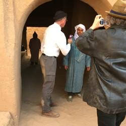 Making a promo video Bounou Kasbah