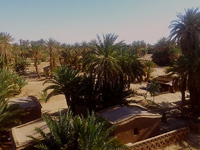 View from the top terrace to the Nwalla Huts