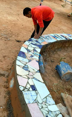 tiling the first bounou wall