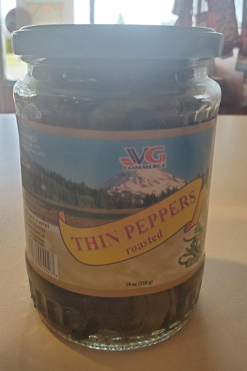 Thin Peppers Roasted 550gr Чорбаджийски