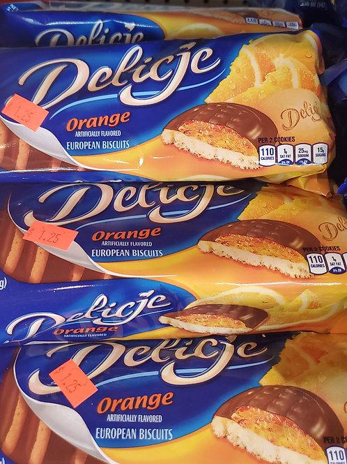 Delicje Orange Cookies