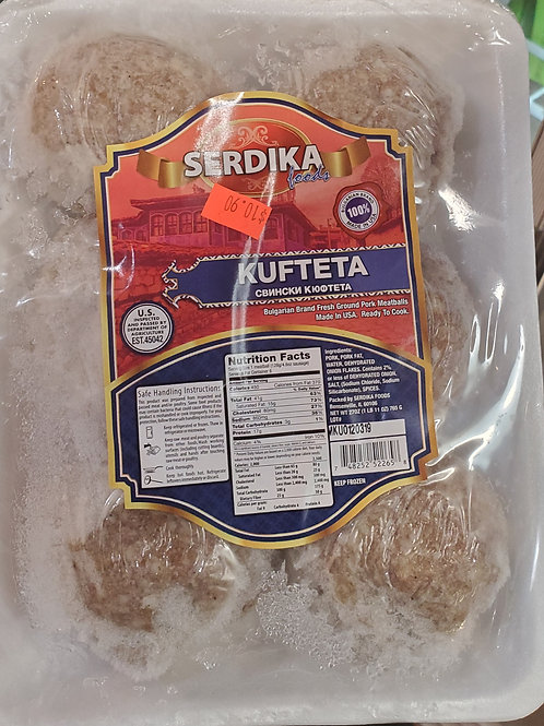FROZEN Pork Kufteta 6pieces