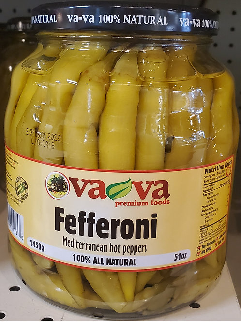 Vava Fefferoni Hot Peppers 1450gr