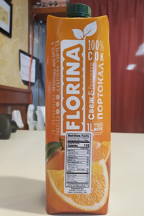 Florina Orange Juice 1L (0.26 gallons)
