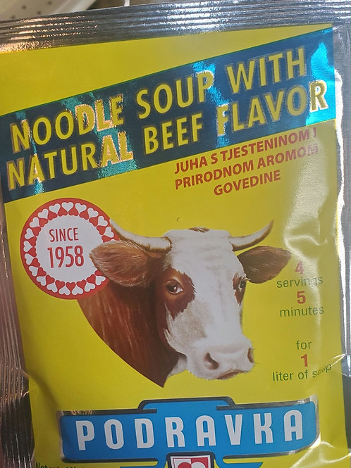 Beef flavored soup mix