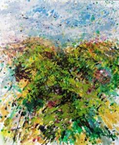 Gerda Lepke. Landschaft mit Hügel