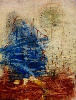 Hans Winkler. Grosses Blau vor Rotbraun