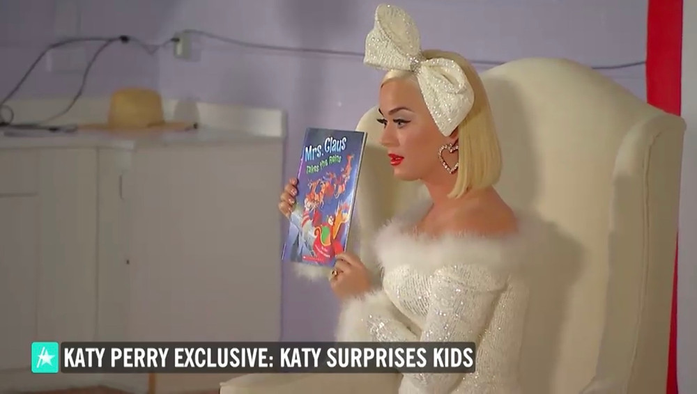 Katy Perry reads my book!