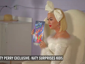 Global Megastar Katy Perry read my book Mrs. Claus Takes the Reins at a Charity Event!