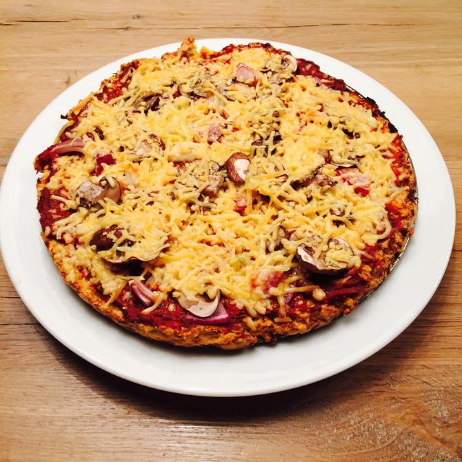 Bloemkoolpizza, glutenvrij en koolhydraatarm
