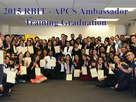 RBIT - 2015 APCS Ambassador Training Programs