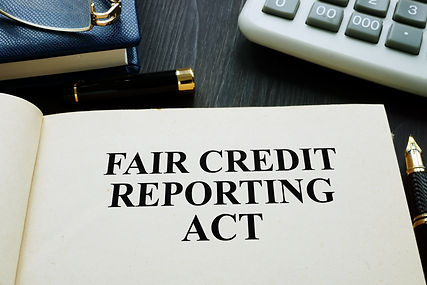 Fair credit reporting act FCRA on a desk