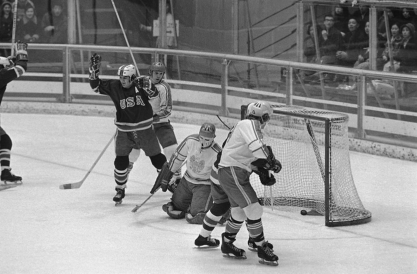 Boucha Goal for USA Hockey Team - 1972 O