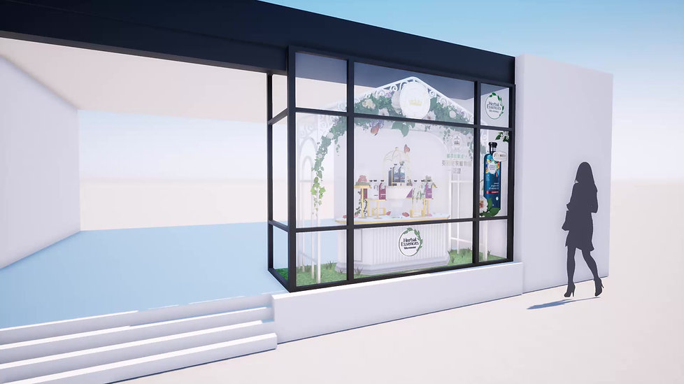 Herbal Essneces Window Display Promo Animation